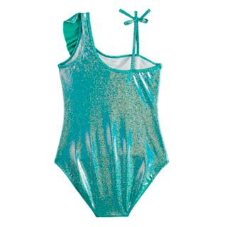 Girls 7-16 SO® Glitter Dreams Sparkle & Ruffle One-Piece Swimsuit