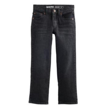 Boys 4-12 SONOMA Goods for Life? Black Straight Jeans in Regular, Slim & Husky