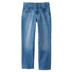 Boys 4-12 SONOMA Goods for Life™ Light Wash Straight Jeans in Regular, Slim & Husky