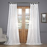 EFF Toulouse Key Patterned Sheer Curtain