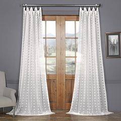 EFF Strasbourg Dot Patterned Sheer Curtain