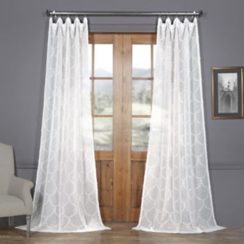 EFF Marseille Shell Patterned Sheer Curtain