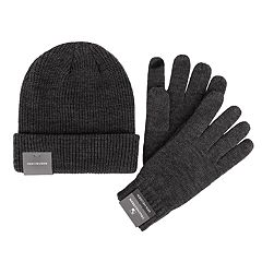 Men's Van Heusen Essential Rib-Knit Touchscreen Glove & Beanie Set