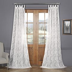 EFF Paris Scroll Patterned Sheer Curtain