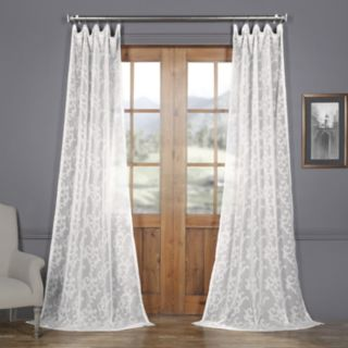 EFF Paris Scroll Patterned Sheer Curtain