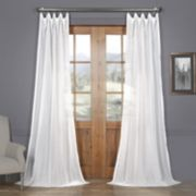 EFF Bordeaux Striped Sheer Curtain