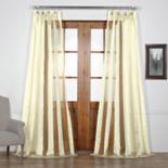 EFF Burnished Vertical Stripe Sheer Curtain