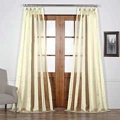 EFF Burnished Vertical Stripe Sheer Curtain