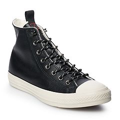d15127b2f5c Men s Converse Chuck Taylor All Star Leather High Top Shoes. Dark Burgundy  Black Driftwood Teak Driftwood. sale