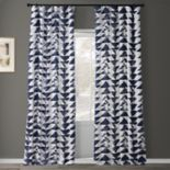 EFF Triad Smoke Printed Cotton Twill Curtain