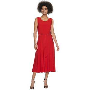 Women's Nina Leonard A-Line Midi Tank Dress