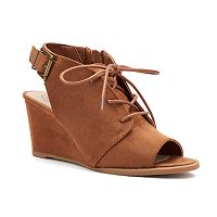 Deals on So Podcast Women's Wedge Ankle Boots