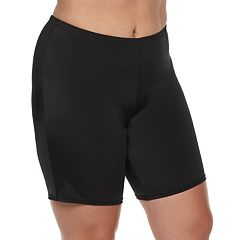 Plus Size A Shore Fit Hip Minimizer Swim Bike Shorts