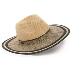 Women's Betmar Porto Braided Colorblock Sun Hat