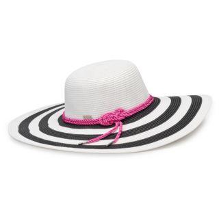 Women's Betmar Demetria Striped Wide Brim Sun Hat