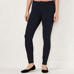 Petite LC Lauren Conrad Midrise Skinny Ponte Pants