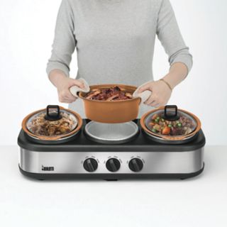 Bialetti Copper Nonstick Triple Slow Cooker