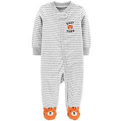 Baby Boy Carter's Striped Animal Sleep & Play