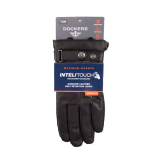 Men's Dockers® InteliTouch Touchscreen Leather Gloves