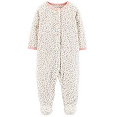 Baby Girl Carter's Printed Microfleece Sleep & Play