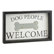 "Belle Maison ""Dog People Welcome"" Wall Decor"