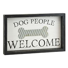 Belle Maison 'Dog People Welcome' Wall Decor