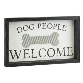 """Belle Maison """"Dog People Welcome"""" Wall Decor"""