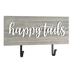 Belle Maison 'Happy Tails' 2-Hook Wall Decor