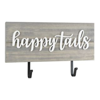 "Belle Maison ""Happy Tails"" 2-Hook Wall Decor"