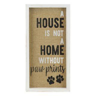 "Belle Maison ""Home"" Paw Print Wall Decor"
