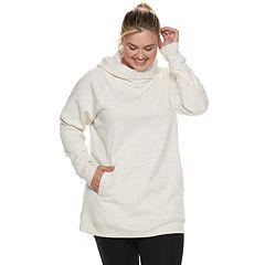 Plus Size Tek Gear® Fleece Raglan Tunic Hoodie