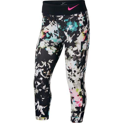 5188bbcc Girls 7-16 Nike Printed Capri Leggings