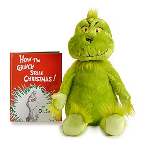 Kohl's Cares How The Grinch Stole Christmas Plush and Book Bundle