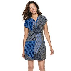 Petite Dana Buchman Print Shift Dress