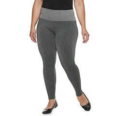 Plus Size French Laundry MidRise Stripe Metallic Leggings