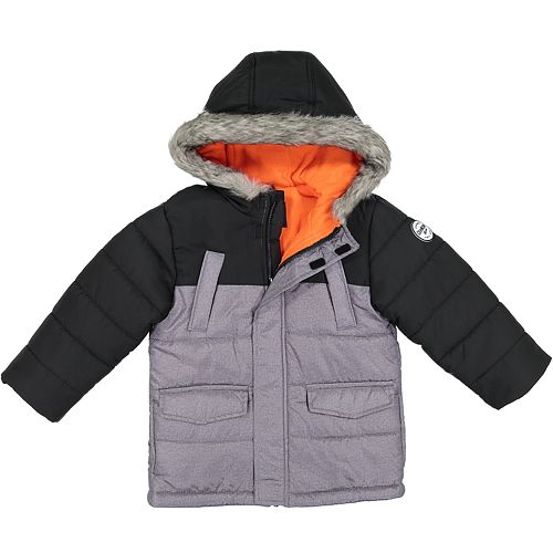 12eba9ae5 Boys 4-7 OshKosh B gosh® Colorblock Quilted Hooded Heavyweight Jacket