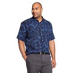 Big & Tall Van Heusen Air Non-Iron Patterned Button-Down Shirt