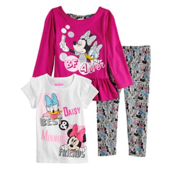 Disney's Minnie Mouse & Daisy Duck Toddler Girl Long-Sleeve & Short-Sleeve Tees & Leggings Set by Jumping Beans®