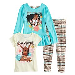 Disney's Moana Toddler Girl Long-Sleeve & Short-Sleeve Graphic Tees & Leggings Set by Jumping Beans®