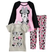 Disney's Minnie Mouse Toddler Girl Long-Sleeve & Short-Sleeve Tees & Leggings Set by Jumping Beans®