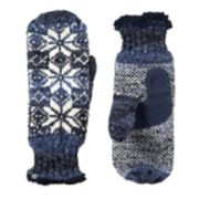 Women's isotoner Chenille Snowflake Mittens