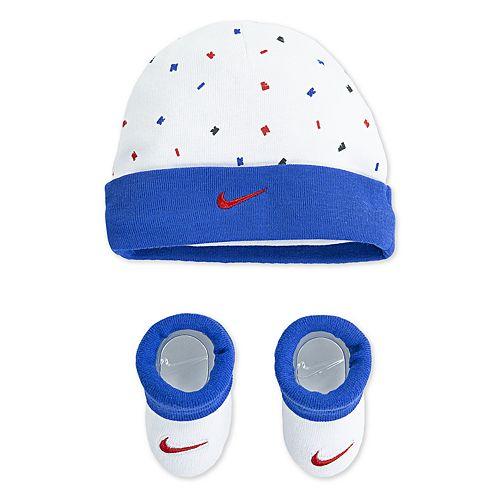 Baby Boy Nike Beanie Hat & Booties Set