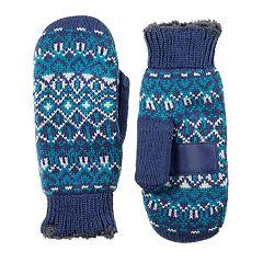 Women's isotoner smartDRI Fairisle Knit Tech Mittens