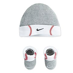 Baby Nike Baseball Beanie Hat & Booties Set