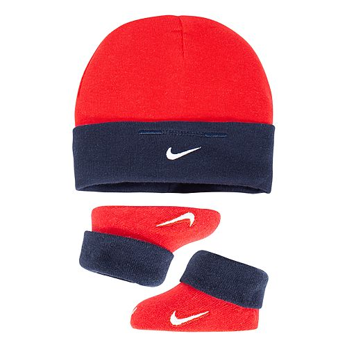 Baby Boy Nike Beanie Hat   Booties Set 27ad229d23c