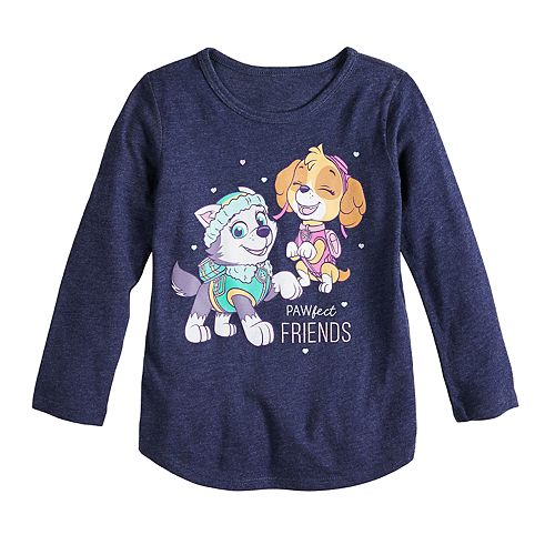 57f8a4f545b Toddler Girl Jumping Beans® Paw Patrol Everest   Skye Long Sleeve Graphic  Tee