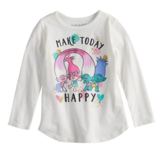 """Toddler Girl Jumping Beans® Dreamworks Trolls """"Make Today Happy"""" Graphic Tee"""