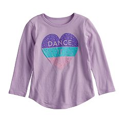 Toddler Girl Jumping Beans® 'Dance It Out' Glittery Heart Graphic Tee