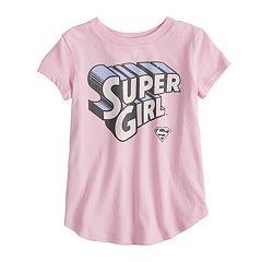 Toddler Girl Jumping Beans® Glittery Supergirl Graphic Short-Sleeve Tee
