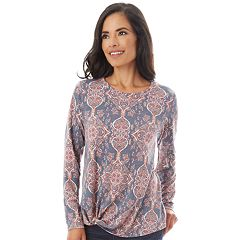 Women's Apt. 9® French Terry Knot Top